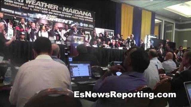 floyd mayweather vs marcos maidana floyd talks fight and rematch EsNews Boxing