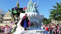 Et flotteur gelé la magie Magie Nouveau sur avec Disney parade elsa anna hd disneyland paris