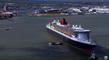 Saint-Nazaire    |  Le Queen-Mary 2 vu du ciel - Nantes Bretagne Télé