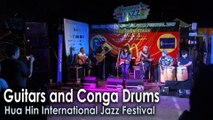 Guitars and Conga Drums in Hua Hin International Jazz Festival