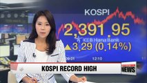 Korean stocks hit another record high on earnings expectations