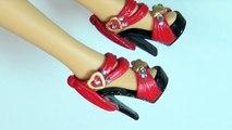Y Magdalena personalizados Bricolaje muñeca fácil resplandecer cómo antiguo reciclar zapatos temática para Barbie sh