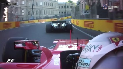 2017 Azerbaycan GP - Hamilton vs Vettel Kapışması
