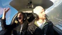 Une fausse panne de moteur en avion pour une demande en mariage