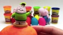 Escroquerie avec pâte des œufs porc jouer jouets Peppa surprise, avec des œufs surprise surprises