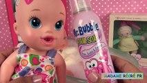 Vivant bébé bulle mousse lun partie savon poupée corolle premier bébé bain avec et le savon 2