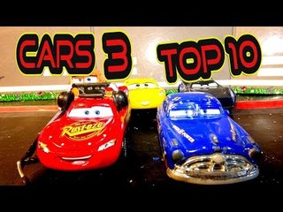 Cars 3 Top 10 Spoiler Re Enactments with Lightning McQueen Jackson Storm Doc Hudson and Cruz Ramirez