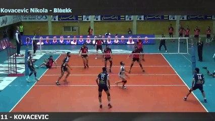 Nikola Kovacevic pos 4 - Paykan Iran Playoffs 2017 - jersey #11