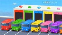 Et autobus couleur les couleurs couleurs pour enfants apprentissage jouet avec Garage 3d |