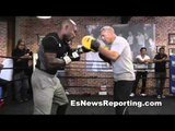 Manny Pacquiao vs Tim Bradley Mitts Workout