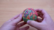 EXPERIMENT Glowing 1000 degree METAL BALL vs RUBBER BAND BALL