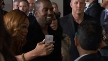 Grammy Awards  Kim Kardashian and Kanye West kiss for ages on the red carpet!