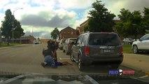 Avec ce policier faut pas rigoler sur la route... Arrestation musclée