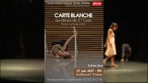 Répétitions de la CARTE BLANCHE aux élèves de DANSE CONTEMPORAINE de 3° cycle du Conservatoire de Brive