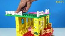 Peppa Pig Blocks Mega House LEGO Creations Sets With Masha And The Bear Legos Toys For Kid