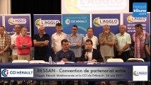 BESSAN - CONVENTION DE PARTENARIAT ENTRE L'AGGLO HERAULT MEDITERRANEE ET LA CCI DE L'HERAULT 26 JUIN 2017