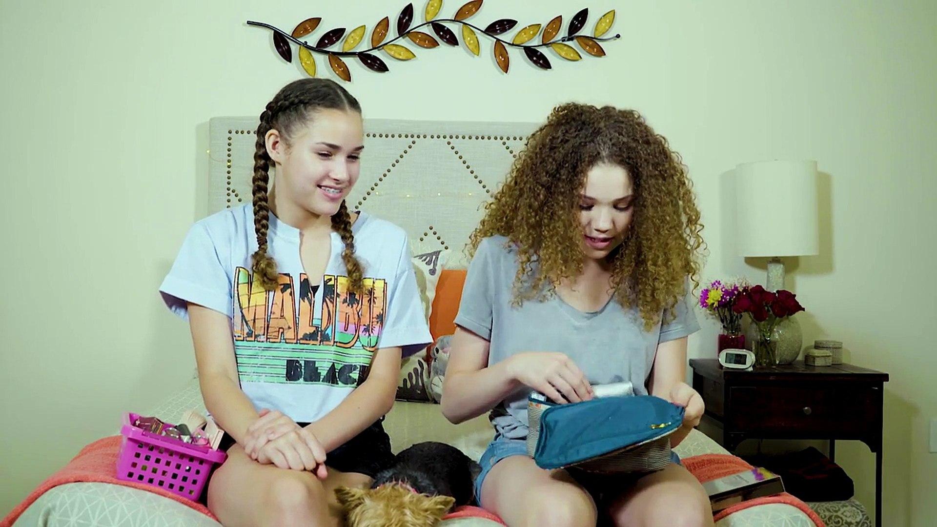 3 Minute Makeup Challenge   Haschak Sisters