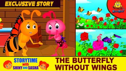 EXCLUSIVE Kids Story  The Butterfly Without Wings   Story with Moral Lesson  Animated English Storie