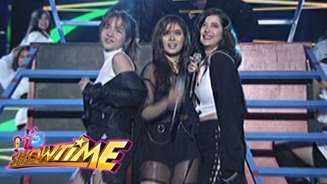 "It's Showtime: Sue, Kristel and Loisa perform ""Black Magic"""