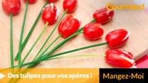 Créez des tulipes pour vos apéros !