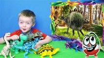 Segundo León video Niños para los niños acerca de la colección de dinosaurio Tyrannosaurus Spinosaurus esqueleto de dinosaurio