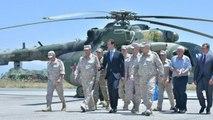 Syrian President Bashar al-Assad visits air base in western Syria