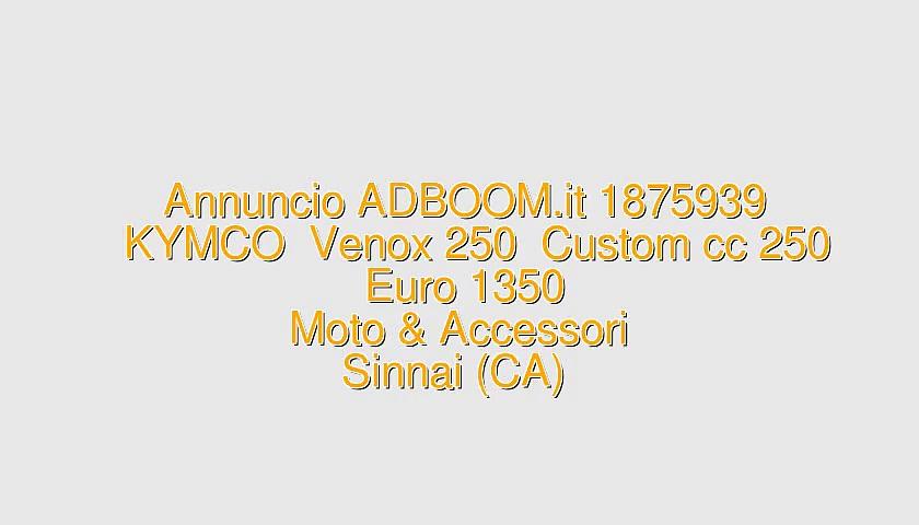 KYMCO  Venox 250  Custom cc 250