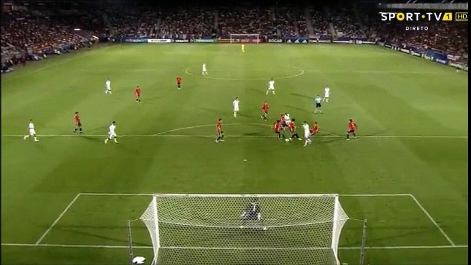 Federico Bernardeschi Long Range Goal vs Spain U-21 (1-1)