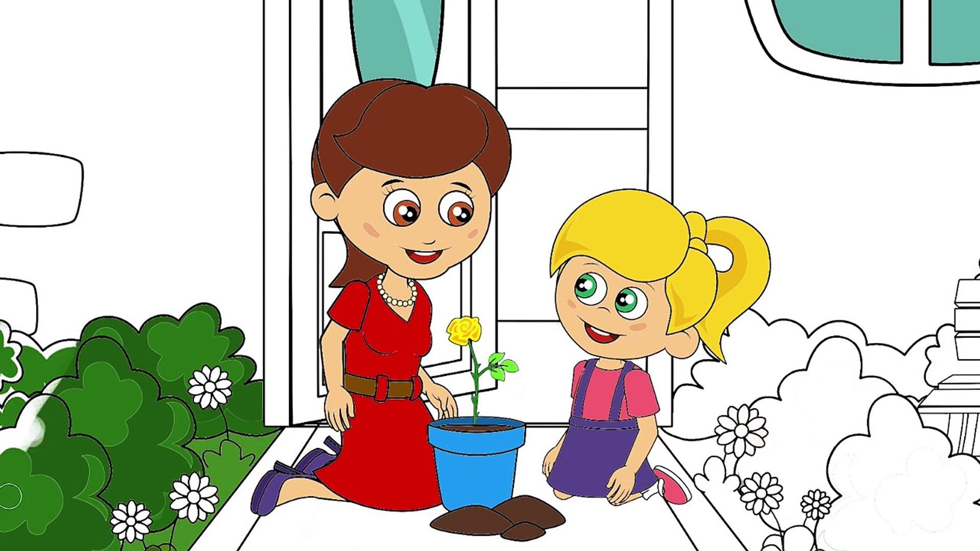 Sevimli Dostlar Cizgi Film Karakter Boyama Sayfasi 1 Cizgi Film