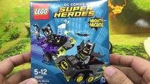 Homme chauve-souris puissant contre Lego Batman Catwoman confrontent 76061 super-héros DC Assemblée examine Puissante Micro lego catwoman micros