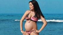 Celina Jaitley Shows Off Baby Bump In Bikini