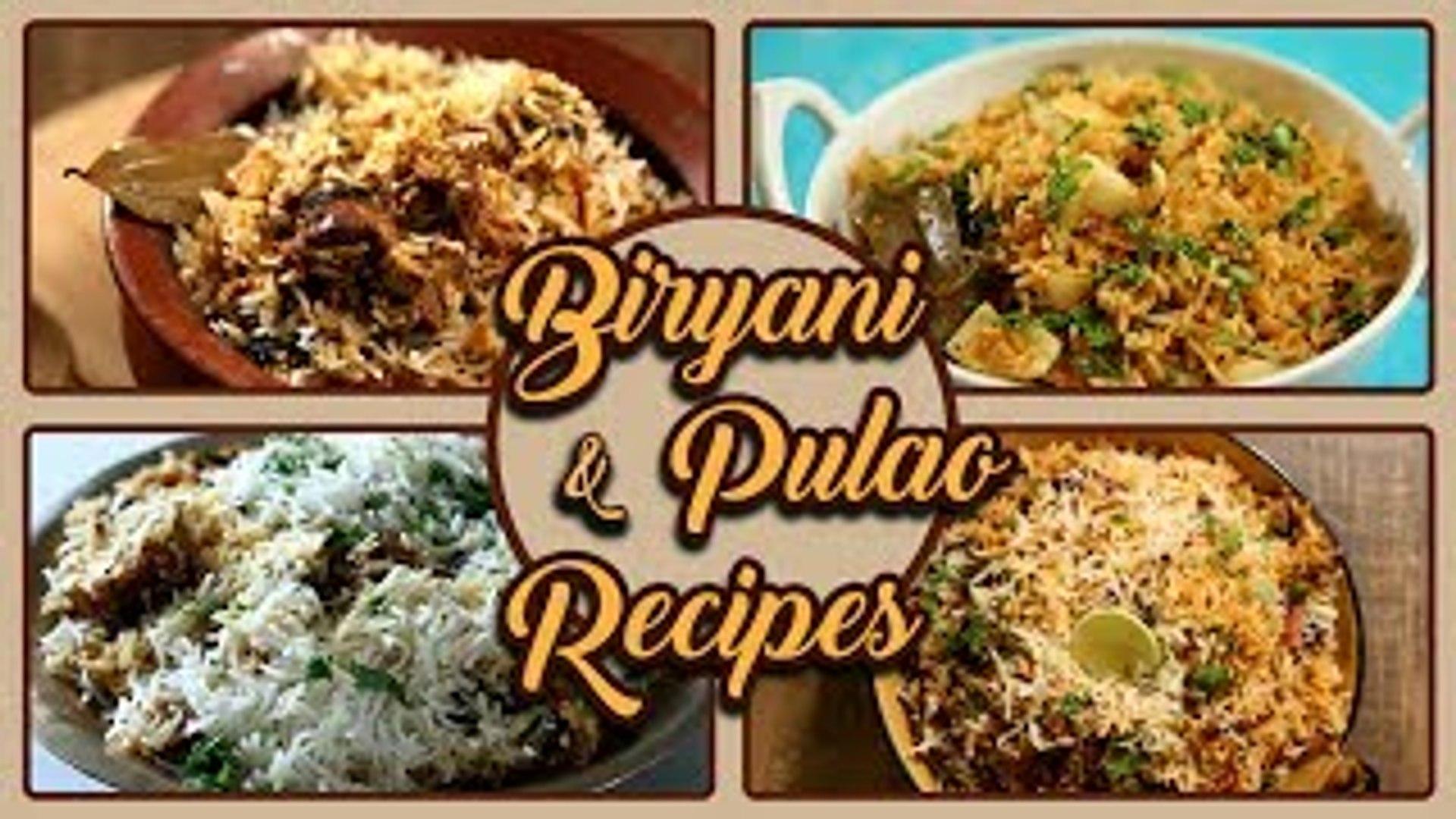 Biryani And Pulao Recipes In Marathi | Ramadan Recipes | Biryani Recipe | Pulao Recipe | Eid Special