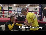 Vasyl Lomachenko in camp for salido - ready to make history champion is 2 fights EsNews Boxing