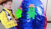 Oeuf gelé géant pâte à modeler shérif histoire jouet boisé toby Callie énorme oeufs surprise SORP