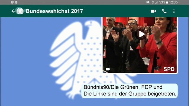 Toll! Bundeswahlchat