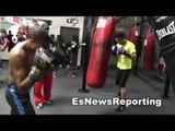 Boxing star Thomas Dulorme Beast on Heavy Bag EsNews Boxing