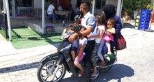Denizli'de Bir Motosiklete 6 Kişi Birden Binen Aile Jandarmayı Bile Şaşırttı