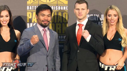 FACE OFF DOWN UNDER! MANNY PACQUIAO VS JEFF HORN FULL FACE OFF VIDEO
