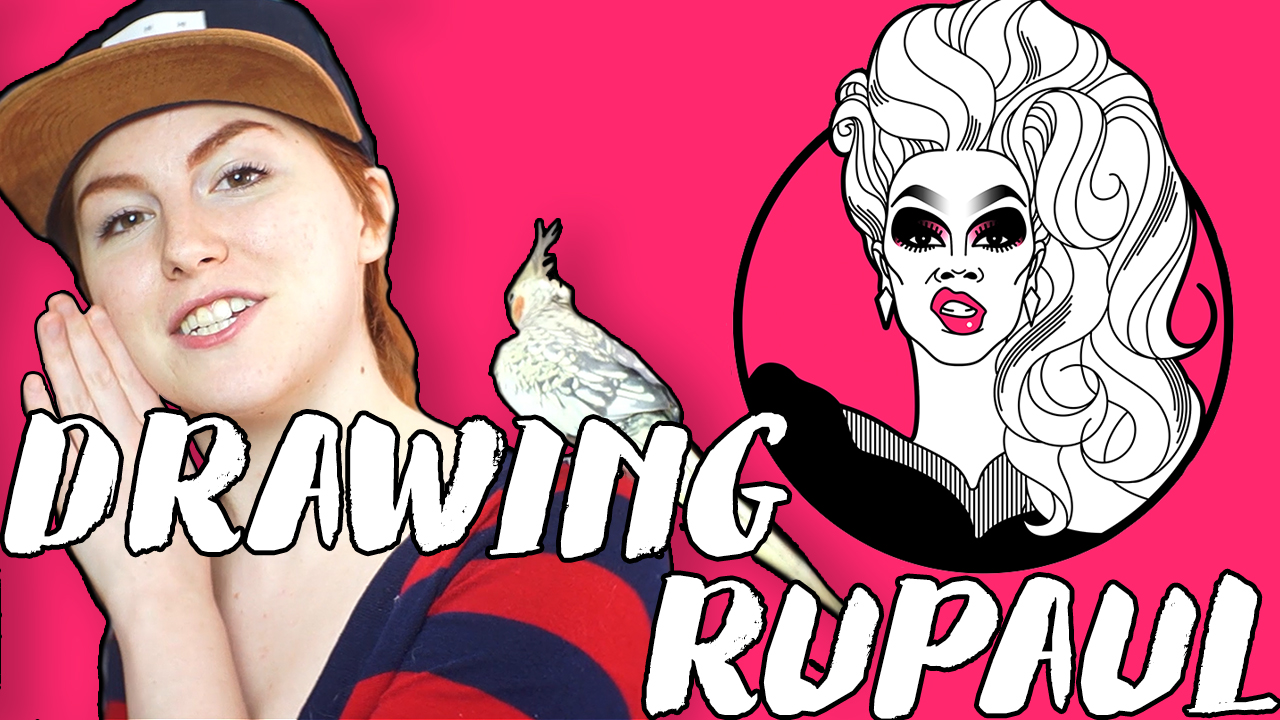 Drawing RuPaul's Drag Race // Rad Art with Beth Be Rad | Snarled