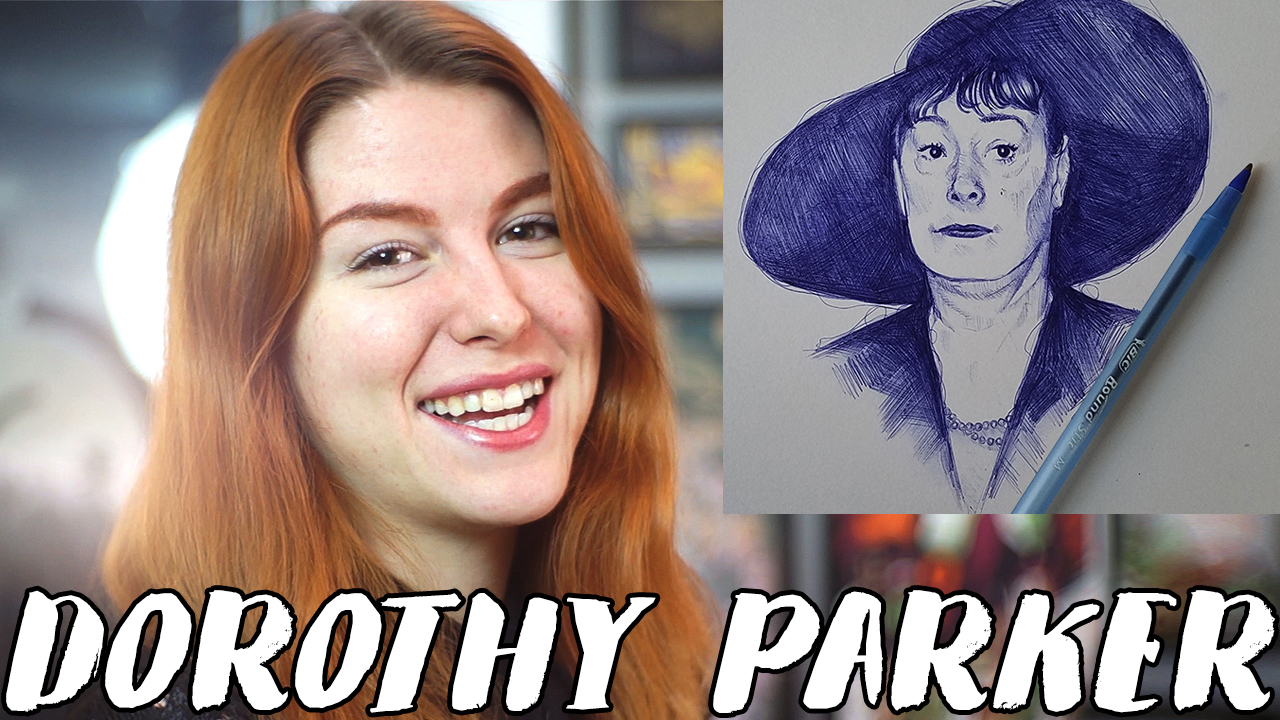THIS LADY IS SNARLY AF – Drawing Dorothy Parker // Rad Art with Beth Be Rad | Snarled