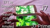 Comparaison détail galaxie premier contre Samsung j7 j7 2016 | amoled tft [hindi