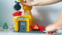 Crane and vehicles. Toys video for children. Kinder Surprise. Toys car