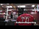 thomas dulorme speed and power at robert garcia boxing academy in oxnard EsNews Boxing