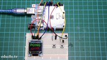 Arduino Game Project  Pong Game using an Arduino Uno and Color OLED display (SSD1331). Easy tutorial