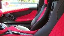 Lamborghini Aventador LP700-4 Start Up & Drive Amazing Custom Interior at Lamborghini Miami