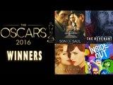 Oscar Winners 2016 - Leonardo DiCaprio, Brie Larson, Alejandro González Iñárritu