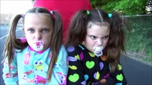 Bad Baby Sitter Minnie Bike Race Victoria Annabelle Playground Babies Toy Freaks