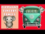 ★2 HOURS★ Wheels On The Bus || Elephant Version || 3D Animation Rhymes