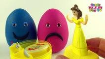 Des ballons les couleurs Coupe Coupe des œufs visages à lintérieur Apprendre ouvrir jouer avec Doh surprise smiley