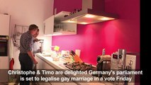 Germany's gay couples hopeful ahead of same-sex marriage vote